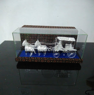 horse cart miniature silver plating