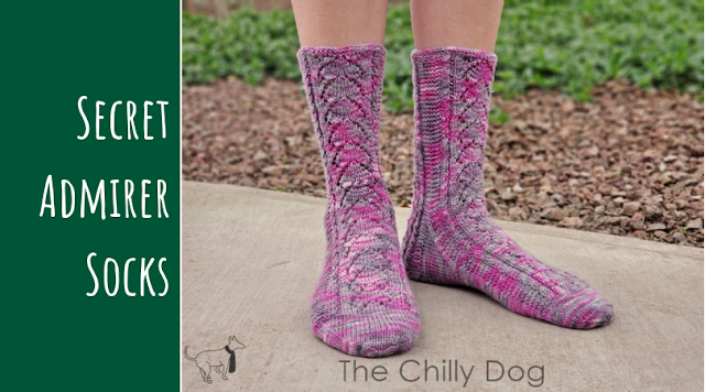 Secret Admirer Socks Knitting Pattern: Learn how to t2r and t2l to create small twists or mock cables
