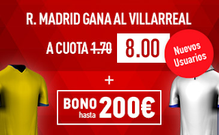 Supercuota sportium Villarreal vs Real Madrid
