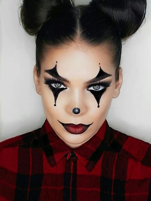 maquilhagem halloween palhaço rapariga
