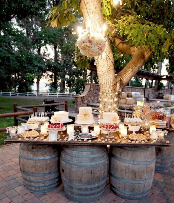 Inexpensive Wedding Reception Food: Cool Garden Party Decoration Ideas