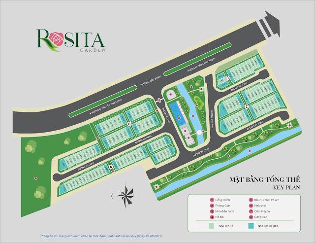 Sơ đồ mặt bằng chi tiết nhà phố biệt thự Rosita Garden Khang Điền Quận 9
