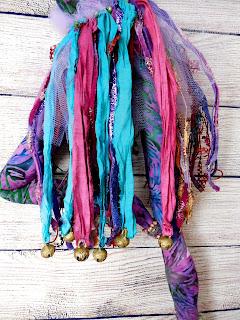 Detailed View of Ribbon Skirt on OOAK Dancer Art Doll