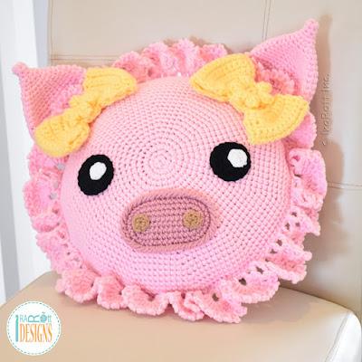Pig Pillow Crochet Pattern