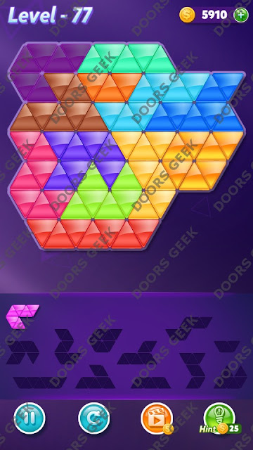 Block! Triangle Puzzle Grandmaster Level 77 Solution, Cheats, Walkthrough for Android, iPhone, iPad and iPod