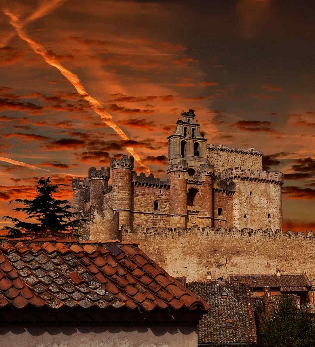 Ruínas do castelo de Turégano, Segovia, Espanha