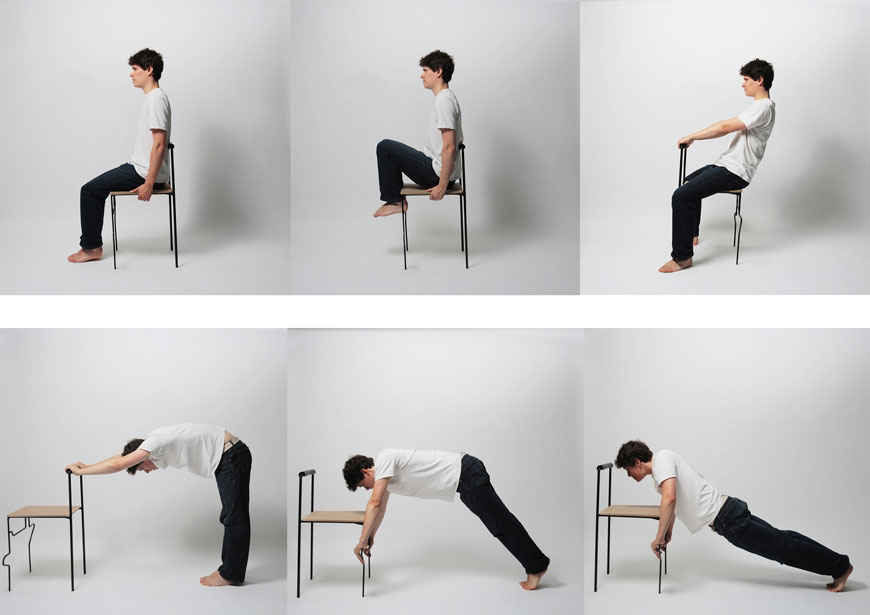Ma Petite Niche Exercices De Gym  la Maison 4  La Chaise