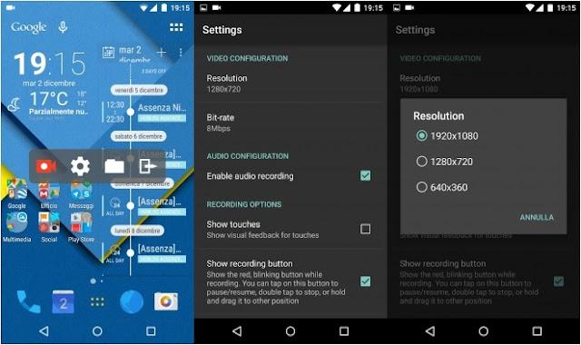AZ Screen Gravador de Tela para android Sem Root