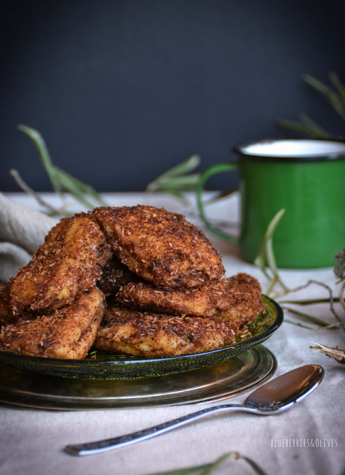 FRIED SPICED COCONUT MILK
