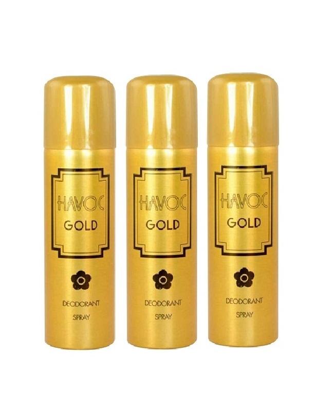 Pack Of 3 - Havoc Gold  Body Spray 200 ml