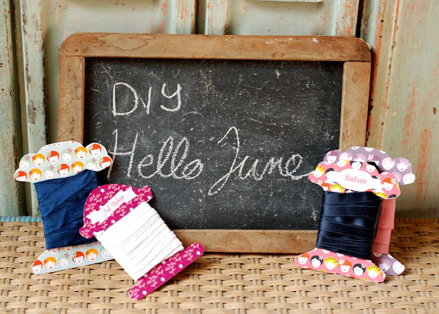 hello june _carton pour ruban_ ribbon card board _printable