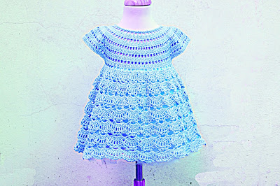 5 - Crochet IMAGEN Vestido rosa de abanicos a ganchillo Majovel Crochet