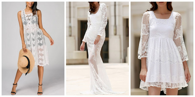 My Zaful Wishlist: See Through White Dress