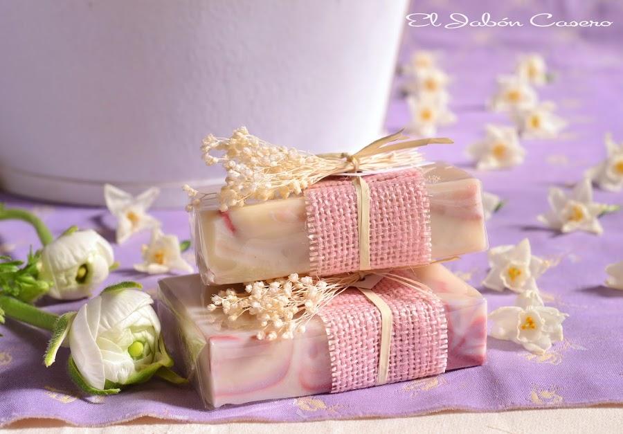 Detalles para bodas romanticas vintage jabones florales
