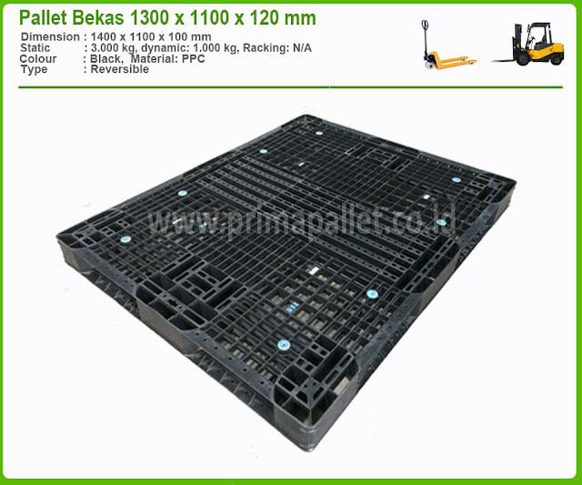 Pallet Plastik Bekas Ukuran 1300 x 1100 x 120 mm