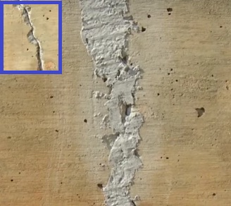 Patch repair of moderately damaged foundation (5~15 mm)