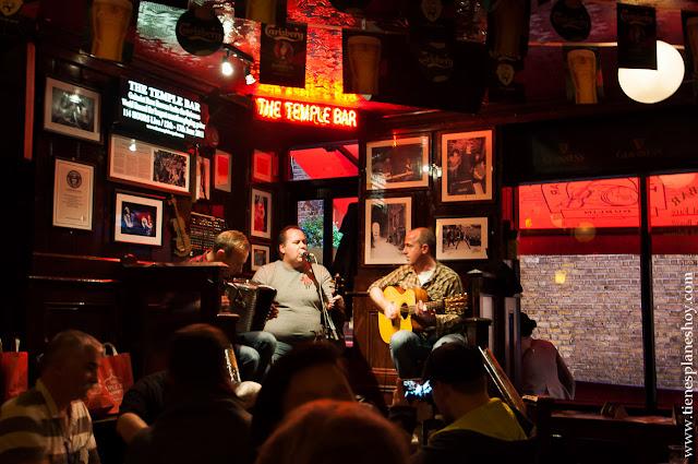Musica directo Temple Bar Dublin Irlanda