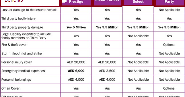 Insurance Guide : AXA Auto Insurance Dubai.