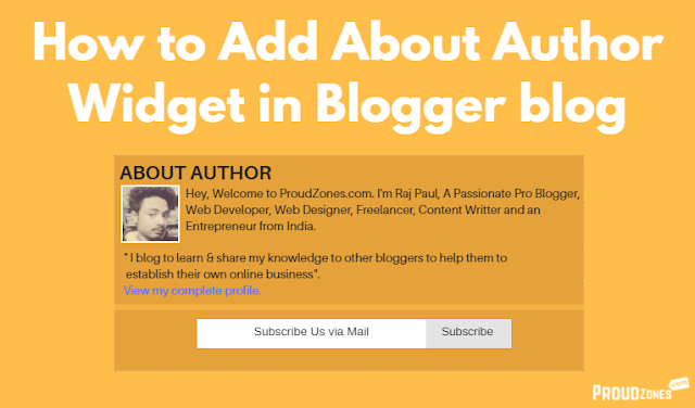 add about author bio box in blogger