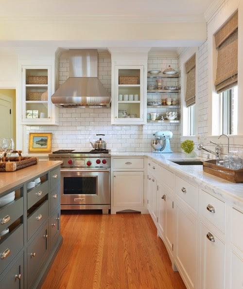 la cuisine grise et blanche un m lange de r ve cuisine grise. Black Bedroom Furniture Sets. Home Design Ideas