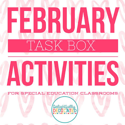 February Task Box Activities for Special Education Classrooms