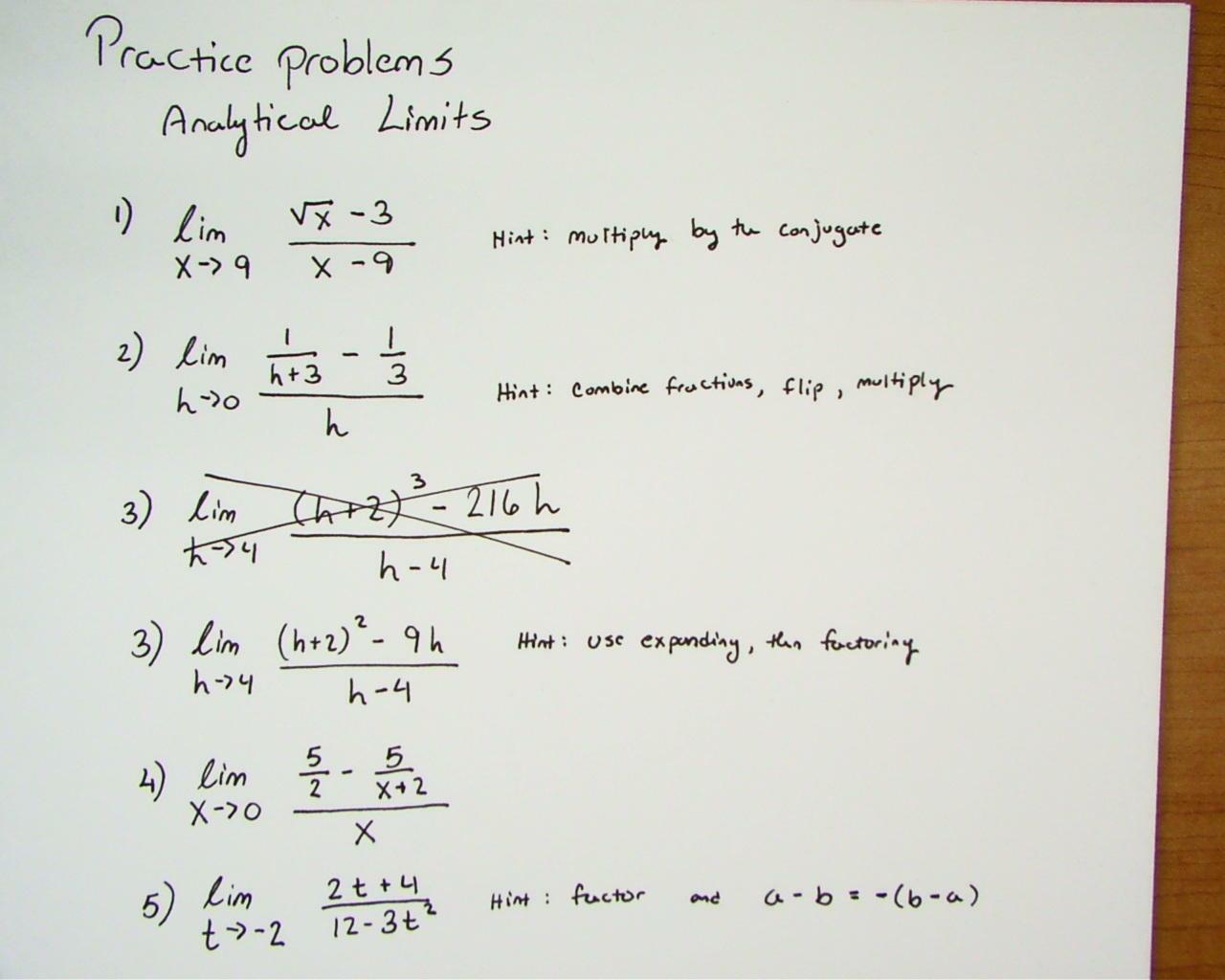 Khan Academy Limits Algebraically | Pwner