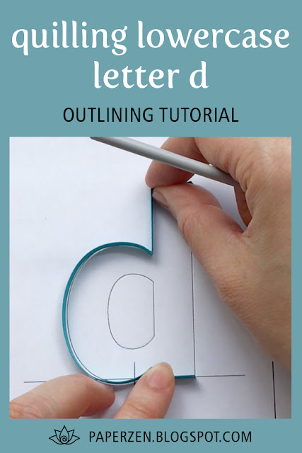 Quiling Letters Lowercase d