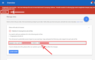 Cara Memperbaiki Peringatan Ads.Txt Google Adsense Di Blog