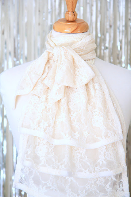 Ivory Lace Jabot by Mademoiselle Mermaid.
