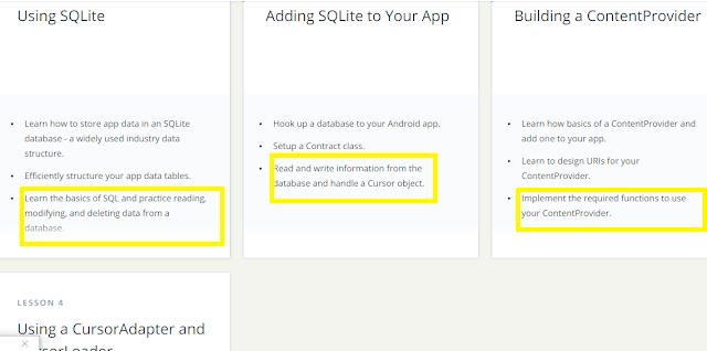 Udacity Android Basic Data Storage