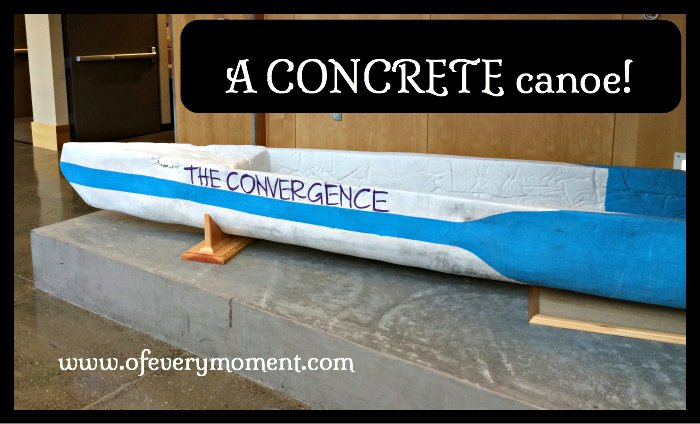 rowing, concrete canoe