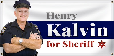 Sheriff Election Banner Example | Lawnsigns.com