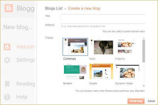 Start a blog on Blogger