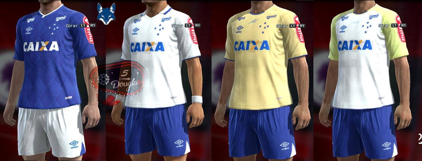 PES 2013 Cruzeiro 2017 Kits by d5ouglas
