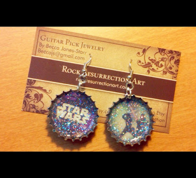 Star Wars Bottle Cap Earrings!