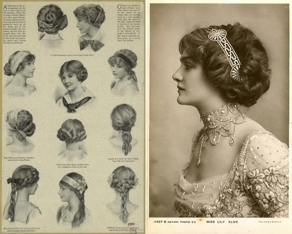 simple haircut designs vivacious efflorescence edwardian 1908 | edwardian era hairstyles