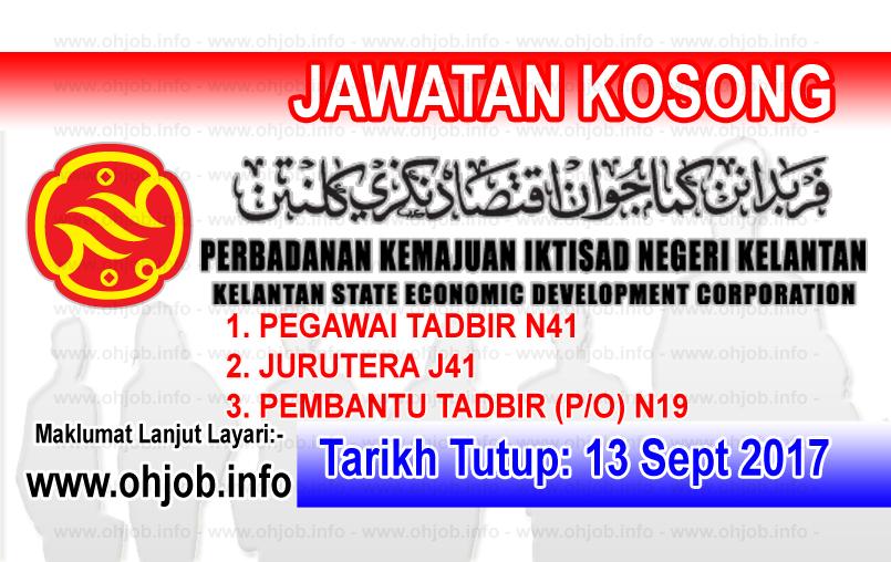 Jawatan Kerja Kosong PKINK - Perbadanan Kemajuan Iktisad Negeri Kelantan logo www.ohjob.info september 2017