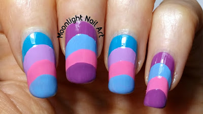 No Tool Nail Art - Reverse French Tutorial. Easy nail art for beginners.