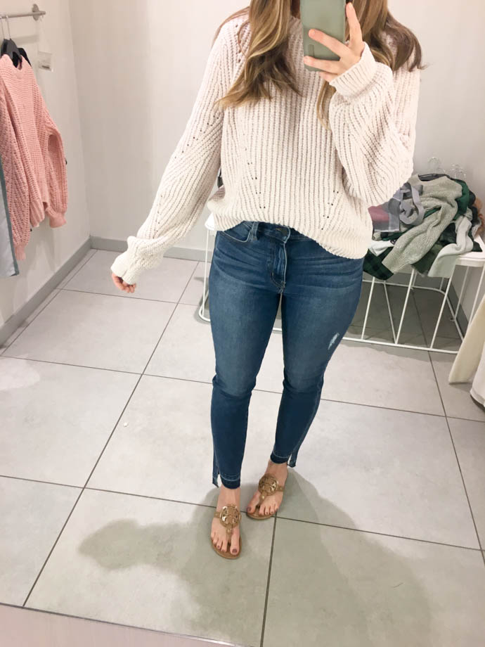lighth pink h&m textured knit sweater, fall outfit 2017, amanda sumner, the girlish blog, girl(ish), sc fashion blogger