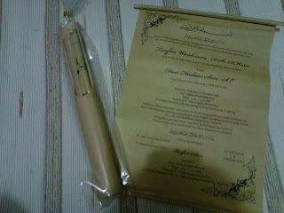 undangan nawolo bambu, undangan unik