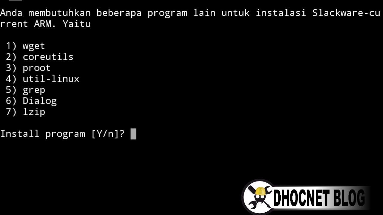 panduan instalasi slackware linux di android tanpa rooting - blog.dhocnet.work