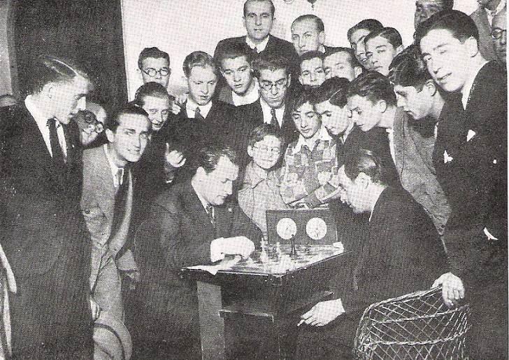 Partida Koltanowski-Fuentes en el Torneo Internacional de Ajedrez del Madrid F.C. 1936