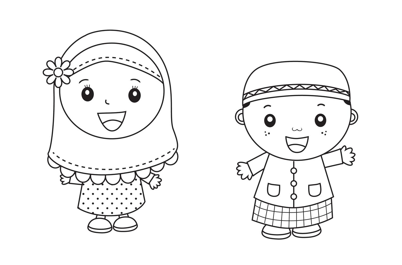 Kumpulan Gambar Animasi Anak Tk Muslim Design Kartun