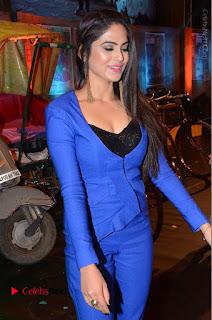 Actress Naina Ganguly Stills in Blue Dress at RGV Shiva to Vangaveeti Event  0022.JPG