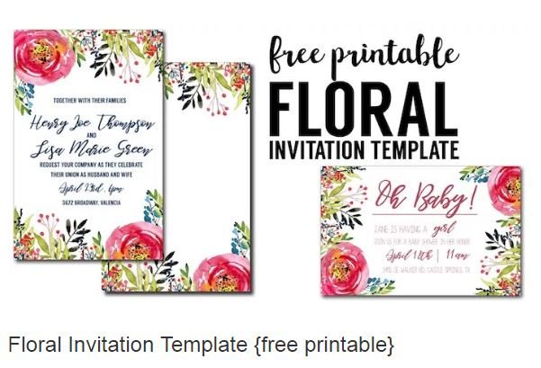 Diy 18th birthday invitation card a blog about misselayneous things we want a floral themed party in shades of royal blue and peach luckily i found free templates by paper trail design blog filmwisefo