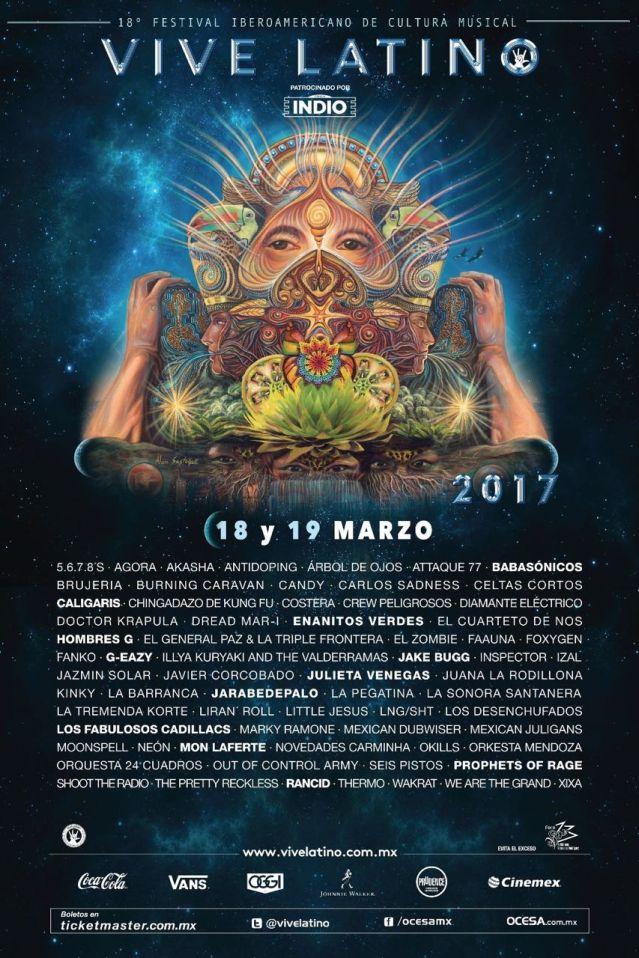 Vive Latino Foro Sol en Mexico 2017