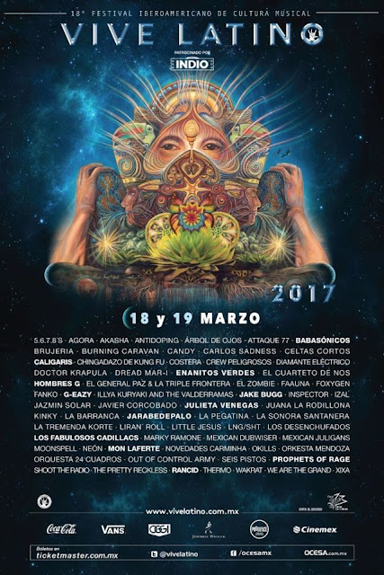Boletos Vive Latino Foro Sol en Mexico DF 2017