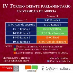 IV Torneo de Debate Parlamentario de la Universidad de Murcia.