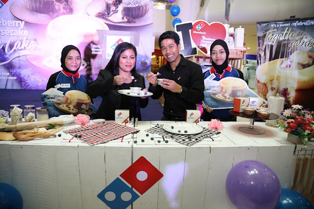 Dominoes Blueberry Cheesecake Lava Cake Official Launching