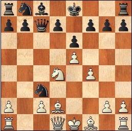 Partida de ajedrez Antoni Puget - J. Marimón, 1959, posición después de 9…Cxc3